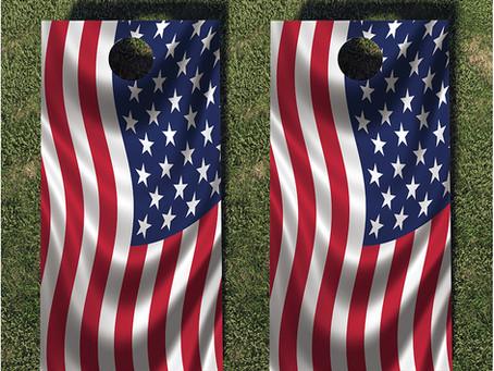 USA Flag Corn Hole Wraps