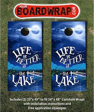 Life is better at the lake | Cornhole Wraps | Fun Lawn Games