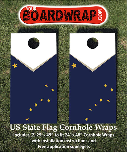Alaska Flag Cornhole Wraps