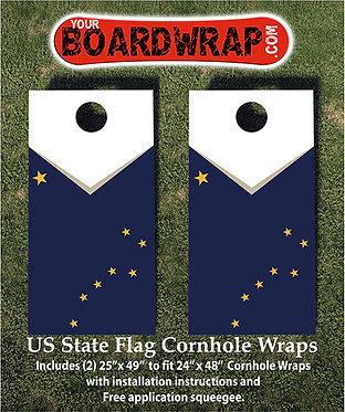 Alaska Flag Cornhole Wrap