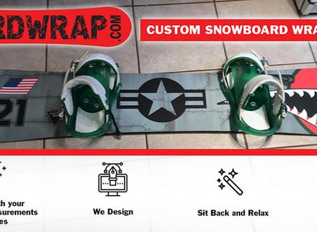 Custom Snowboard Wrap Service