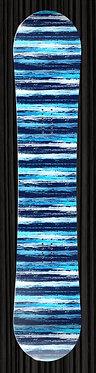 Blue Stripes Snowboard Design