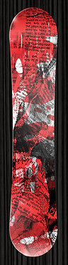 Red Black Grunge Newspaper Snowboard Wrap