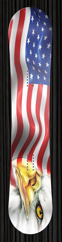 US Flag Snowboard Wrap