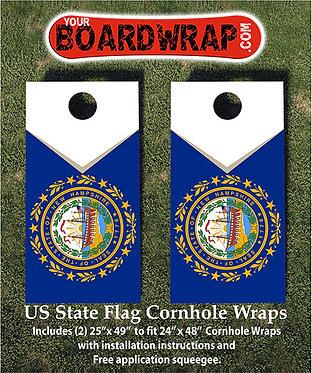 New Hampshire Flag Cornhole Wrap