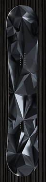 Abstract Black Crystal 3D Snowboard
