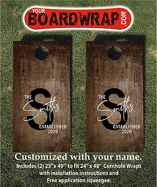 Custom Cornhole Board Wrap 504