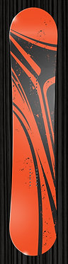 Orange Black Striped Snowboard 345