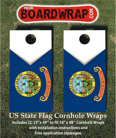 Idaho Flag Cornhole Wraps