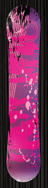 Pink Snowboard Wrap Abstract Design 307