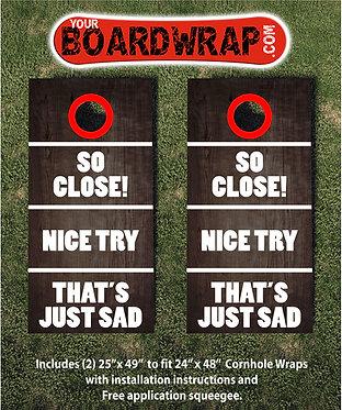Lawn Games | Cornhole Wraps | www.YourBoardWrap.com