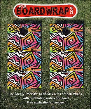 Cornhole Board Wrap 048