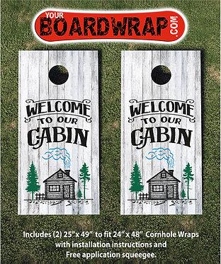 Our Cabin | Cornhole Wraps | Fun Lawn Games