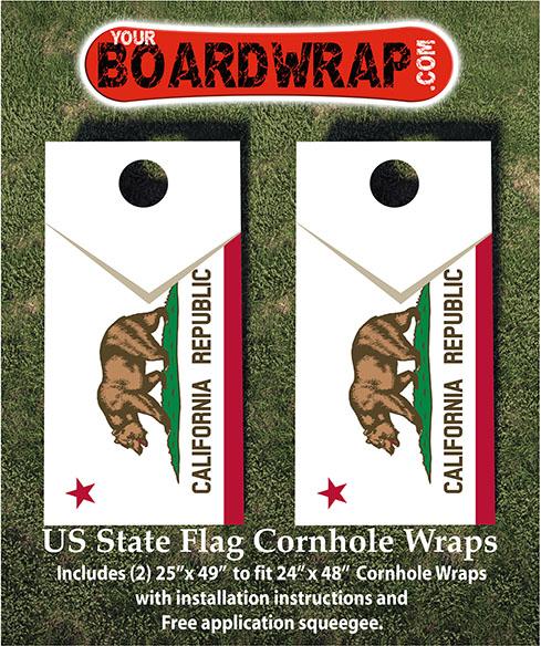 California Flag Cornhole Wrap