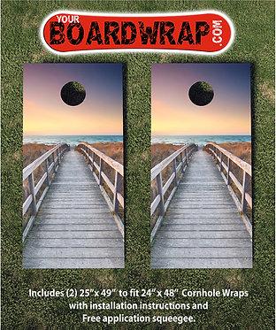 Beach Boardwalk | Cornhole Wraps | Beach Games