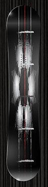 Black Red Stripe Snowboard Design