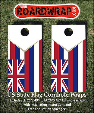 Hawaii Flag Cornhole Wrap