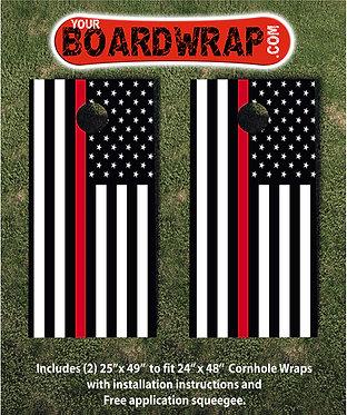 Red Line Cornhole | Lawn Games | www.YourBoardWrap.com
