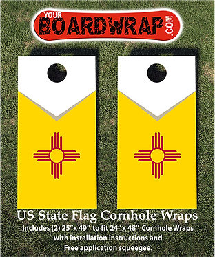 New Mexico Flag Cornhole Wrap