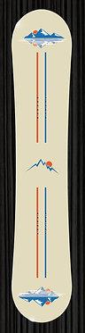 Orange Blue Mountain Snowboard Wrap 355