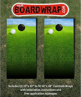 Golf Cornhole Board Wrap