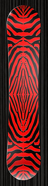Red Zebra Pattern Snowboard Wrap