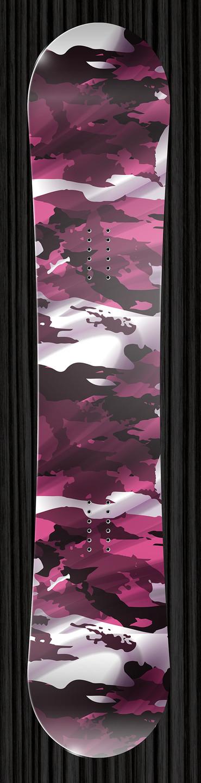 Pink Camo Snowboard Wrap