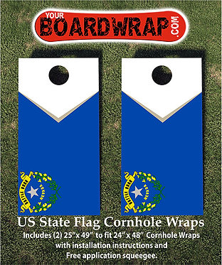 Nevada Flag Cornhole Wrap