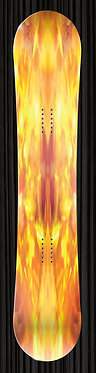 Fire Flames Snowboard