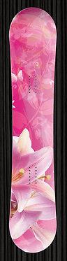 Pink Floral Snowboard | YourBoardWrap.com