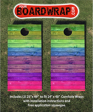 Cornhole Board Wrap 123