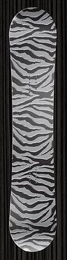 Gray Zebra Design Snowboard Wrap yourboardwrap.com