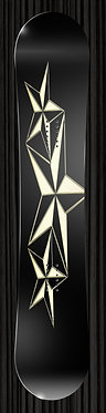 Black Gold Star Snowboard Wrap