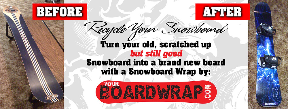 Wrap you snowboard with a new look at YourBoardWrap.com