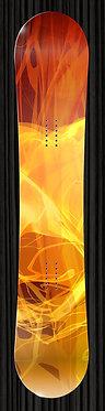 Orange Fire Design Snowboard Wrap 249