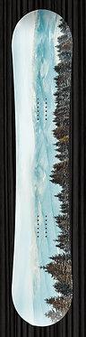 Snow Mountain Trees Snowboard