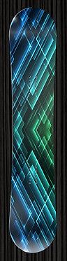 Blue Green Design Snowboard Wrap 273