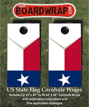 Texas State Flag | Corn Hole Wraps