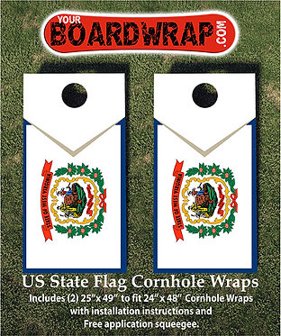 West Virginia Flag Cornhole Wrap