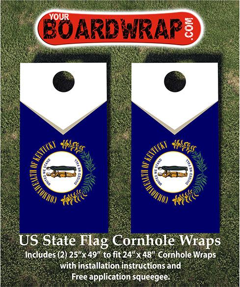 Kentucky State Flag Cornhole Wraps