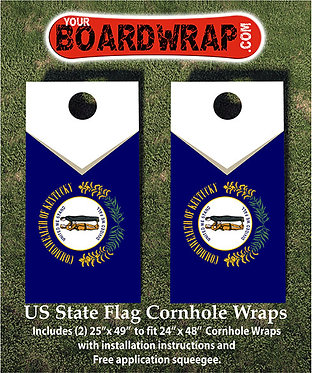 Kentucky Flag Cornhole Wrap