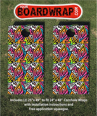 Cornhole Board Wrap 092