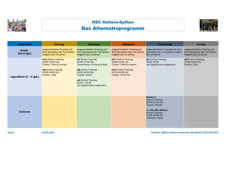 Update Mai 2021: Das Alternativprogramm des HSC Haltern/Sythen #trotzdemSPORT