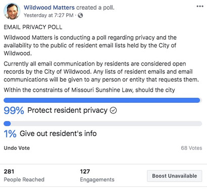 In Lightning Online Poll 99 percent of Wildwood Residents Prefer Protecting Resident Data Within Con