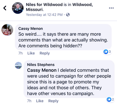 Wildwood Councilman and Mayoral Candidate Stephens Admits to Deleting Opposing Viewpoints on His Sit