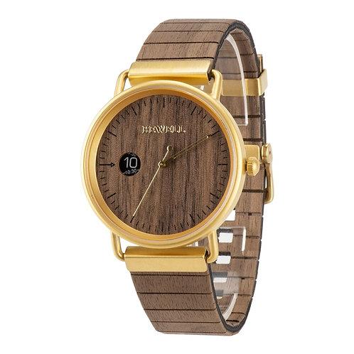 Bewell Wood Watch Leather Wooden Strap Men Women Fashion Quartz  Wrist Watches