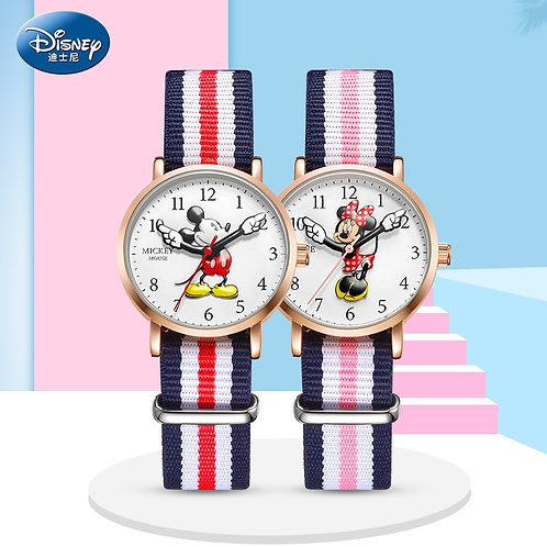 Disney Top Brand Original Mickey Minne Mouse Child Boys Girls Wristwatch