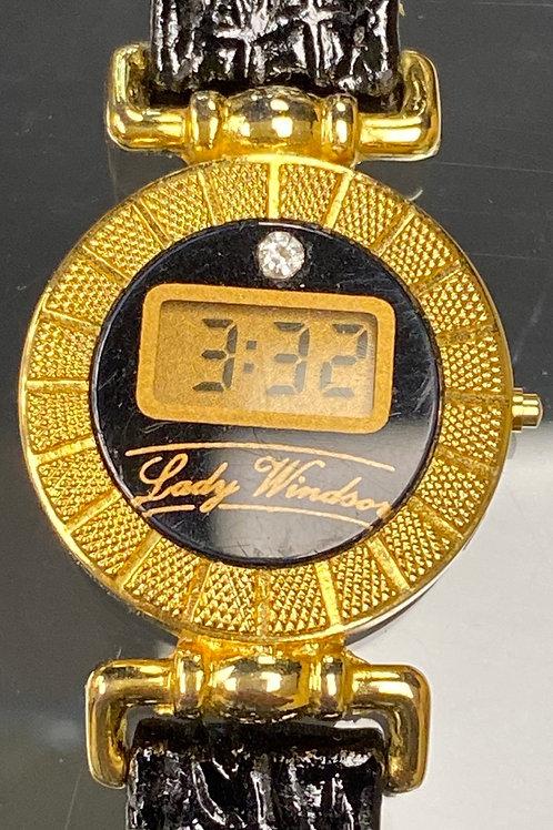 Lady Windsor Diamond Digital Wristwatch