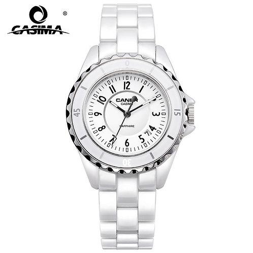 Luxury Brand Women Watches Fashion Casual Elegant Ceramic White Quartz