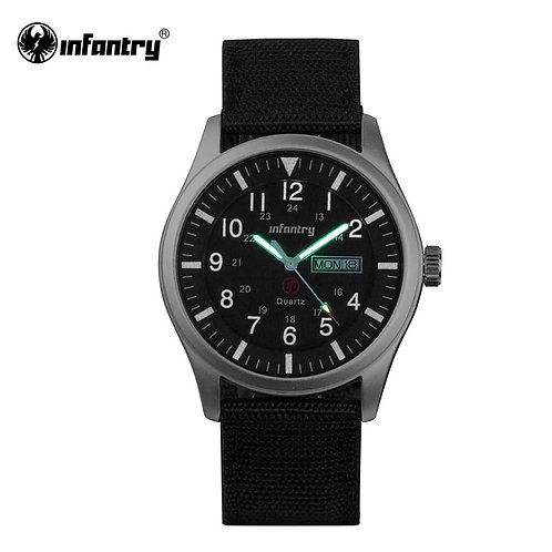 INFANTRY Military Watch Men Glow in Dark Wristwatch Mens Watch